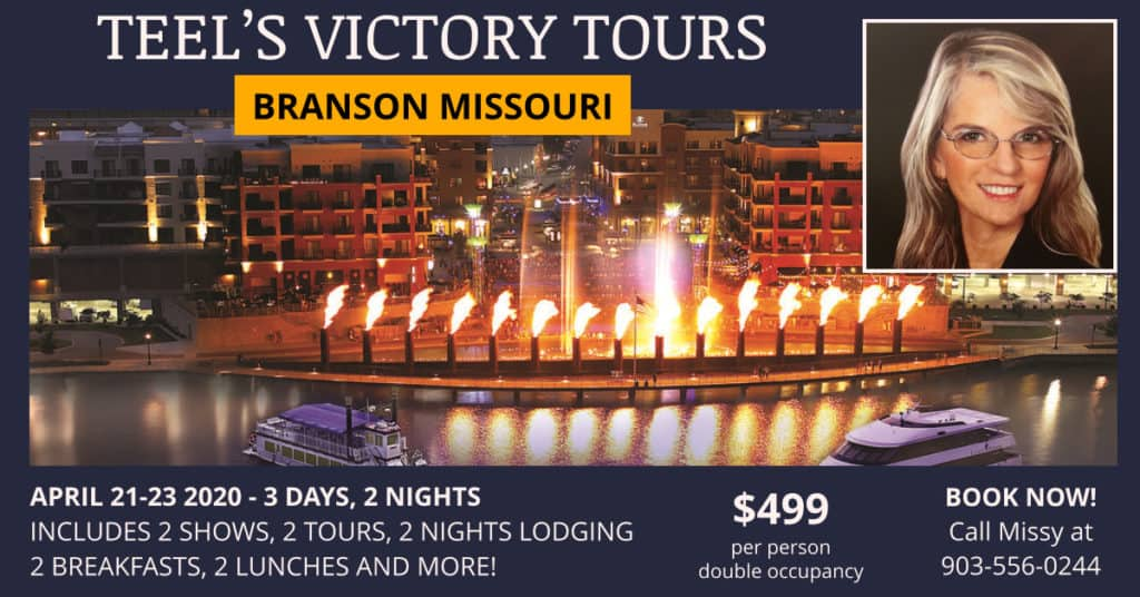 Branson Missouri Tour Apr 2020 - Teel's Victory Tours