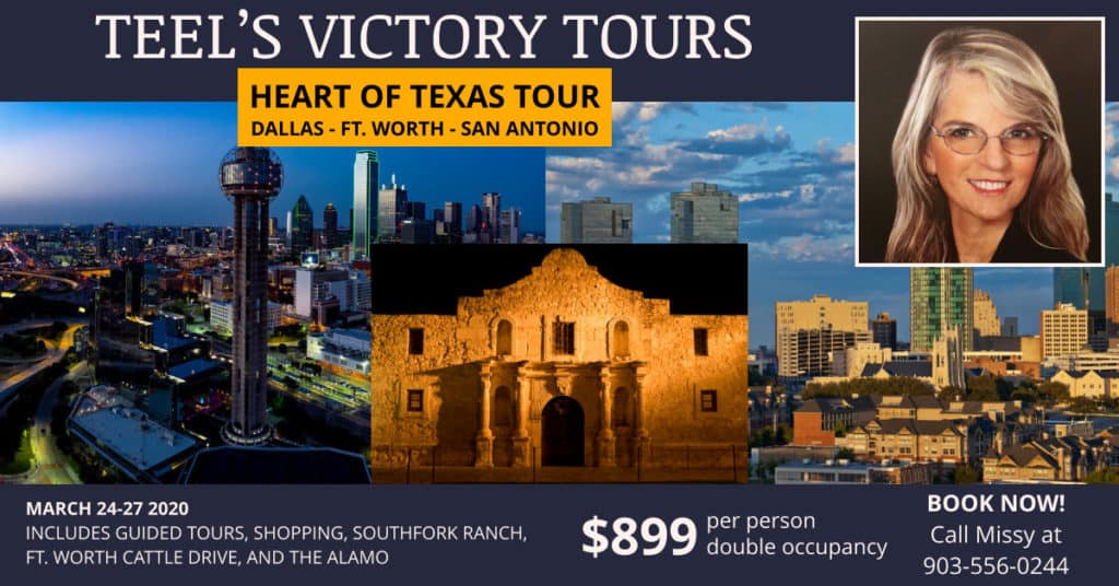 Heart of Texas Tour 2020 - Teel's Victory Tours