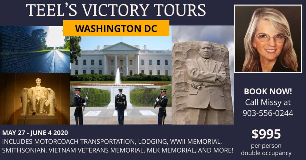Washington DC Tour 2020 - Teel's Victory Tours