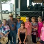 Travel Club members meet Mollie B (international Hall of Fame for Polka Music and TV star) at Westfest Czech Festival in the City of West, Texas.
